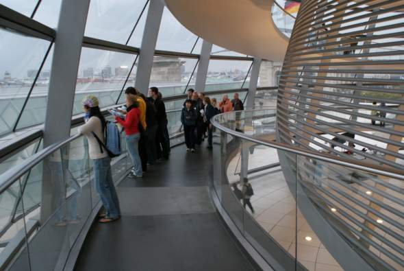 séta a Reichstag kupolában