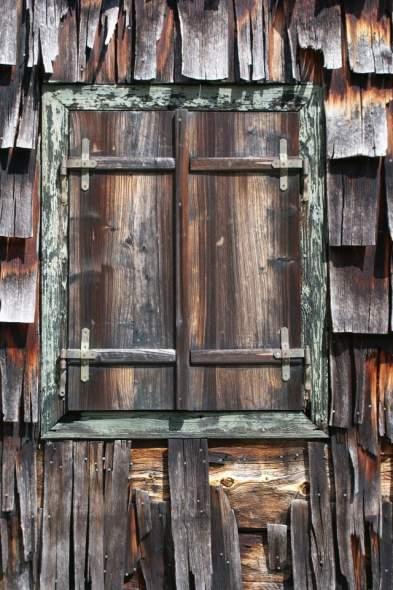 a Simabauernhütte ablaka