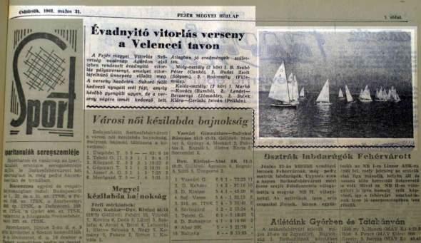 1962.05 - az egyik első megjelent eredmény