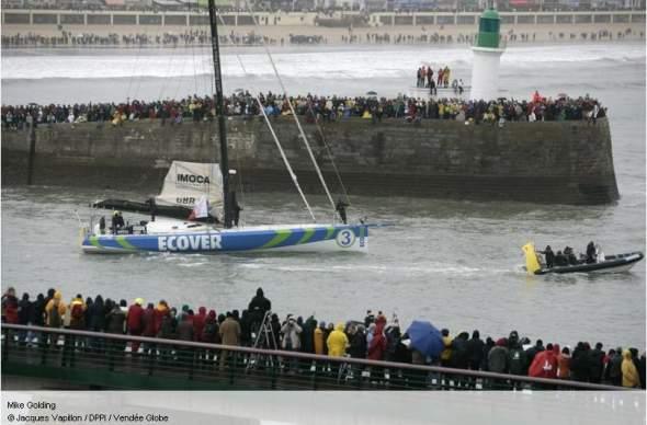 indulás Sables d'Olonne kikötőjéből