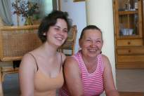 Nóri with her mum