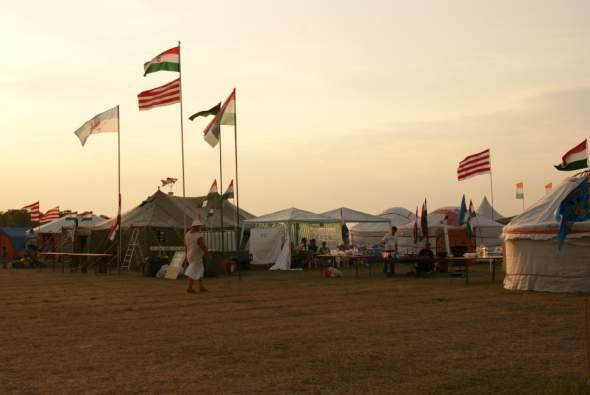 a sátortábor egy részlete