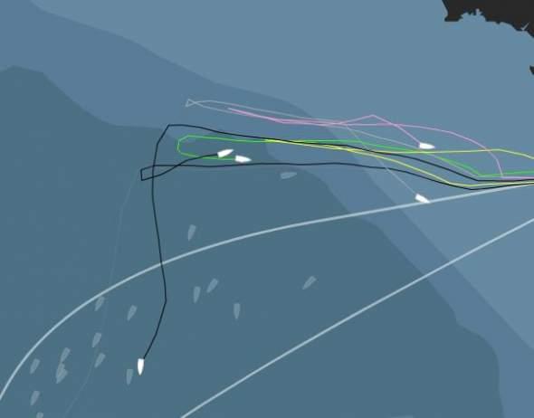 a tegnapi vihar és a visszatérők útvonala (0500 órai helyzet)